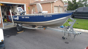 15 ft boat motor and trailer