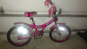 vélo fille rose 18 pouces