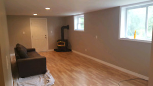 One bedroom, newly renovated basement unit in Millbrook