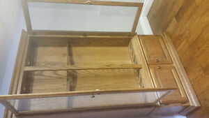 Hand made Solid Oak Cabinet For Sale