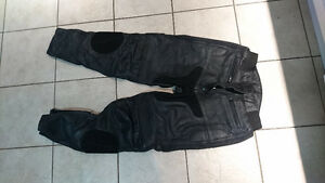 Leather motorcycle pants