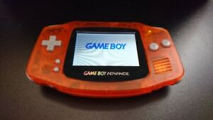 Console Nintendo Gameboy Advance Clair Orange avec Backlight