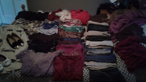 Womens clothes two garbage bags full