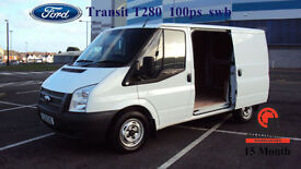 2013 FORD TRANSIT 2.2TDCi 100PS EU5 T280S WHITE DIESEL VAN Low Roof SWB