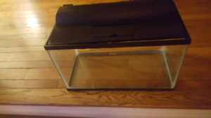 10 gallon fish tank with lid in light