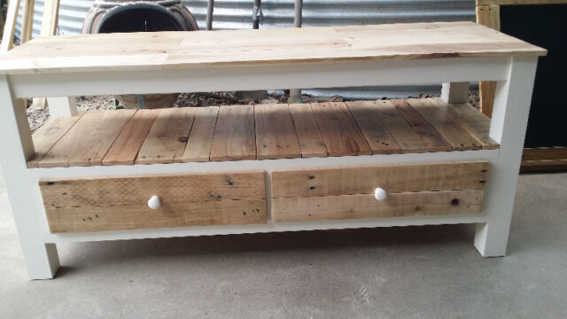 Rustic bench hall table tv unit made to measure from for Gumtree beauty table