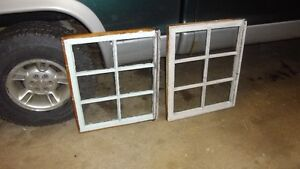ANTIQUE SMALL SIX PANE WINDOWS,GOOD FOR DECOR