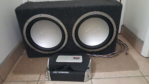 """2×12"""" Subs and Amp Prince George British Columbia image 3"""