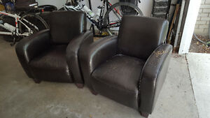 Black Bonded Leather Chairs - no tears