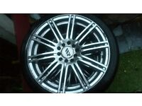 Real nice 17 inch alloys vauxhall 5stud 5x110 fitment