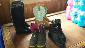 Lighty Used Childs Riding Boots For Sale Peterborough Peterborough Area image 1
