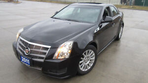 2011 Cadillac CTS, Auto, Leather, Glass roof, Black on Black,