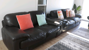 Genuine leather couches 2 & 3 seater