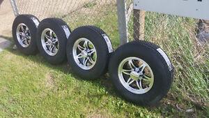 B/New U.S.A Made 10 Ply  ST225/75R-15 tires On B/New 6 Bolt Mags Edmonton Edmonton Area image 1