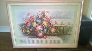 Oil Flower Painting on Canvas