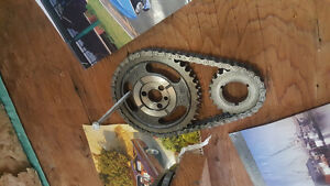 Double timing chain and gear set SBC