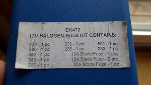12V HALOGEN BULB KIT  (BK472) ,  and FUSES (10A,15A, 20A) Cambridge Kitchener Area image 3