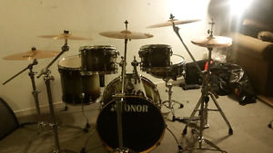 8 piece drum kit Sonor maple
