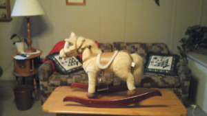 child's rocker ride on horse   with sound effects