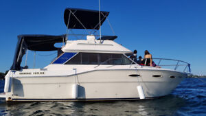 SEA RAY YACHT-CRUISER CONVERTIBLE FLY BRIDGE BOAT