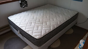 Queen-Sized Box Spring Mattress and Frame