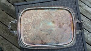 Silverplated serving tray Firestone 1939