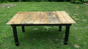 Harvest table - hand made from reclaimed barn wood