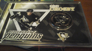 Sidney Crosby silver overlayed medallion