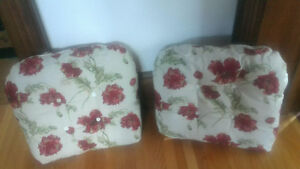"TWO LARGE CHAIR CUSHIONS ""new"""