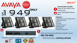 Avaya IP office 500 V2 Phone system with Brand new Phones. $1949