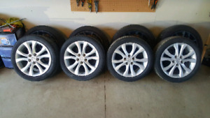 Mazda 3 GT rims with tires 225 45 r17 5x114.3
