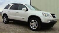 2008 GMC Acadia SLT2 SUV. Full load, Pearl White! Financing! AWD