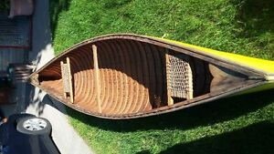 Canvas Covered Cedar Strip Canoe