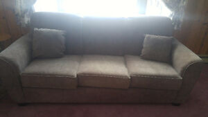 Genuine Suede Leather Sofa