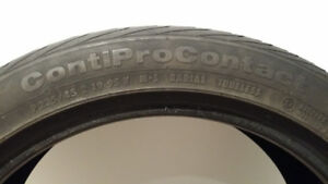 Continental procontact Tires V-Rated