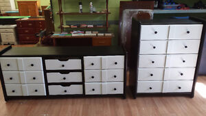 Professionally painted solid vintage dressers