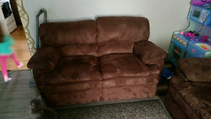 Automatic Reclining Sofa and Love Seat