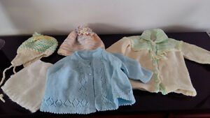 Handmade Baby Sweaters and Hats