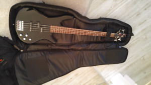 Ibanez Soundgear 4 String Guitar and Marshall Amp