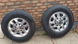 4 chevy rims and Michelin A/T2 L T 265/70R18