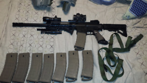 Tippmann tmc with 8mags and extras