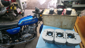 Cylindre et piston pour kawasaki h2 750 triple 1972 @1975