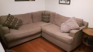 Tan couch. Good condition