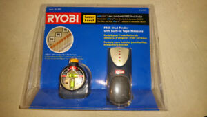 Ryobi Laser Level and Stud Finder - Brand New in Sealed Package