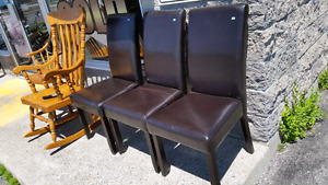 LEATHER DINING CHAIRS AT PMARKET GAMES