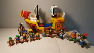 Bateau de pirate figurines