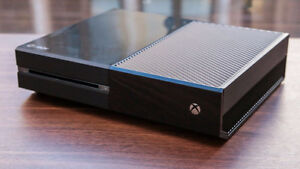 500gb xbox one with six games, kinect, one controller