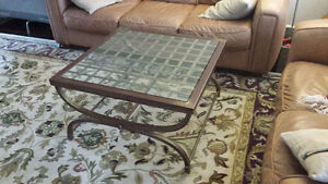 """Unique metal and glass coffee table (32""""x32"""") - $50!!"""