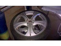 17 inch Wolf Race Alloy Wheels x4