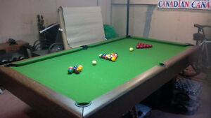 Pool Table with Cues, Snooker and 8 Ball Set